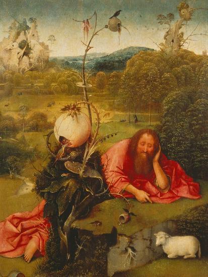 St. John the Baptist in the Desert-Hieronymus Bosch-Giclee Print
