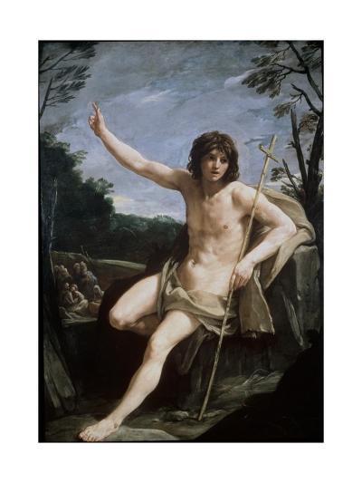 St. John the Baptist in the Wilderness, C.1636-37-Guido Reni-Giclee Print