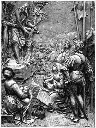 St John the Baptist Preaching in the Desert, 16th Century-Albrecht Durer-Giclee Print