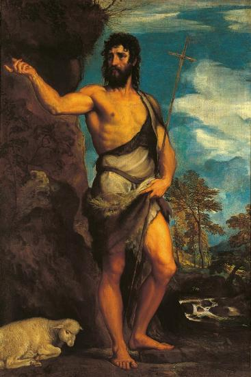 St John the Baptist-Titian (Tiziano Vecelli)-Art Print