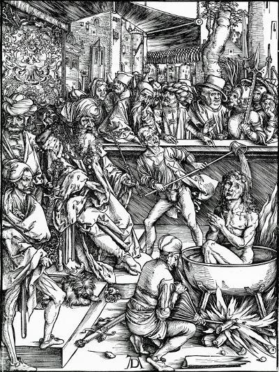 St. John the Evangelist Being Tortured in a Vat of Boiling Oil, from the 'Apocalypse' Series, 1498-Albrecht D?rer-Giclee Print