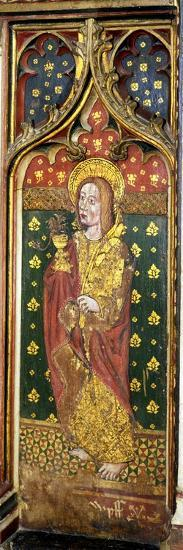 St. John the Evangelist, Detail of the Rood Screen, St. Agnes Church, Cawston, Norfolk, Uk--Giclee Print