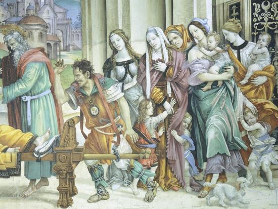 St John the Evangelist Resuscitating Drusiana, 1502-Filippino Lippi-Giclee Print