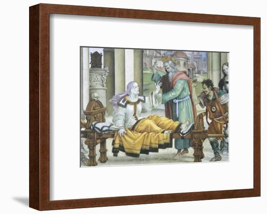 St John the Evangelist Resuscitating Drusiana, 1502-Filippino Lippi-Framed Giclee Print