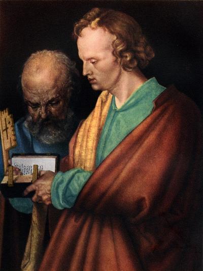 St John with St Peter, 1526-Albrecht Durer-Giclee Print