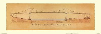 St. Johns Bridge-Craig Holmes-Art Print