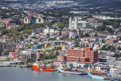 St. Johns Harbour and Downtown Area, St. John'S, Newfoundland, Canada, North America-Michael Nolan-Photographic Print