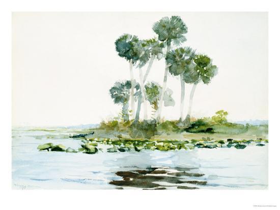 St. Johns River, Florida, 1890-Winslow Homer-Giclee Print