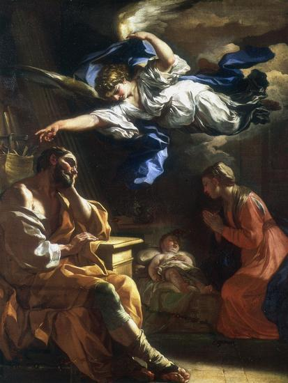 St Joseph's Dream, C1677-1747-Francesco Solimena-Giclee Print