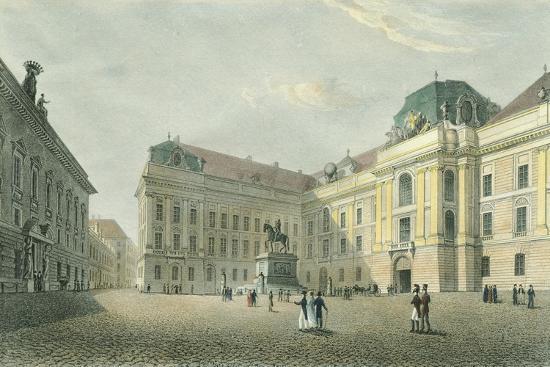 St Joseph Square in Vienna, Austria 18th Century Engraving--Giclee Print