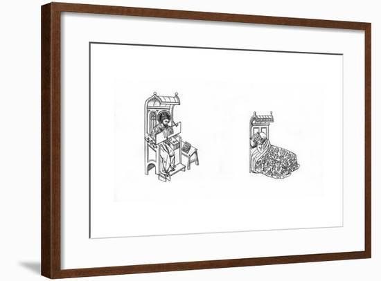 St Jude and King Ahaziah, Second Half of the 14th Century-Henry Shaw-Framed Giclee Print