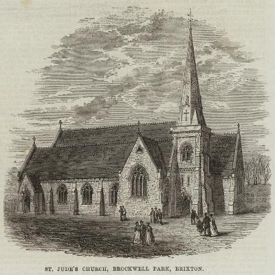 St Jude's Church, Brockwell Park, Brixton--Giclee Print