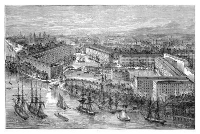 St Katherine's Docks, London, Late 19th Century--Giclee Print