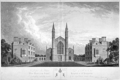 St Katherine's Hospital, Regent's Park, London, 1827-G Reeve-Giclee Print