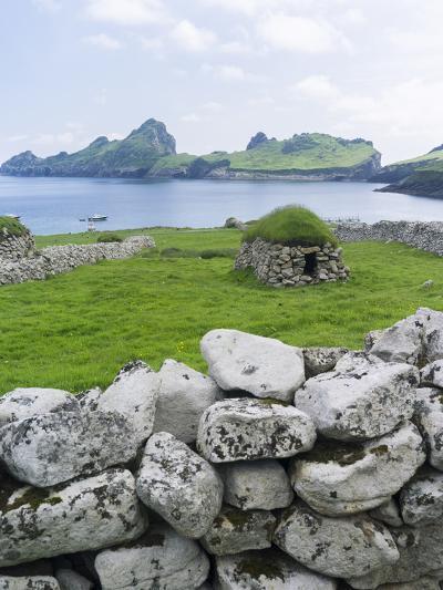 St Kilda Islands, Scotland. Island of Hirta, Traditional Cleit-Martin Zwick-Photographic Print