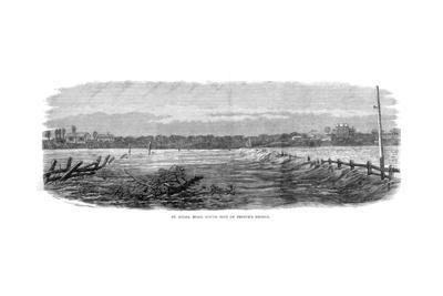 St Kilda Road, South Side of Prince's Bridge - Floods at Melbourne, Australia, 1864--Giclee Print