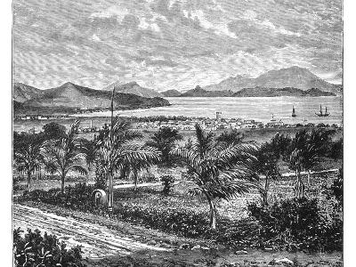 St Kitts, View Taken from Nevis, C1890--Giclee Print