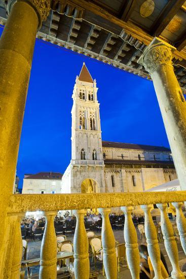 St. Lawrence Cathedral at Night, Trogir, Dalmatian Coast, Croatia, Europe-Matthew Williams-Ellis-Photographic Print