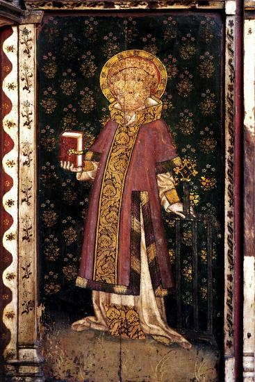 St Lawrence, Detail of the Rood Screen, St Helen's Church, Ranworth, Norfolk, Uk--Giclee Print