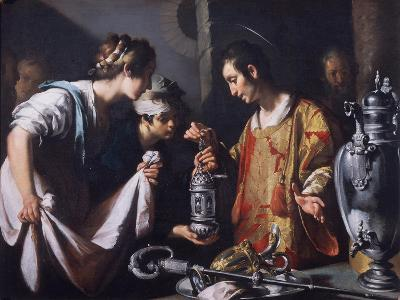 St. Lawrence Distributing the Riches of the Church, C.1625-Bernardo Strozzi-Giclee Print