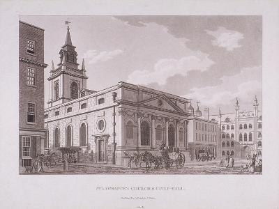 St Lawrence Jewry, London, 1798-Thomas Malton II-Giclee Print