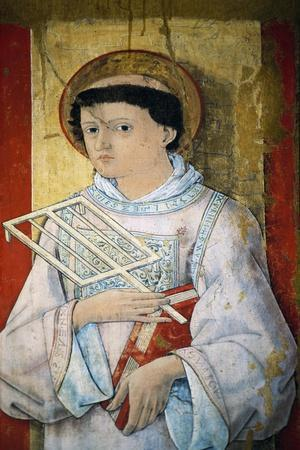 St Lawrence, Oil on Panel-Pietro Alamanno-Giclee Print