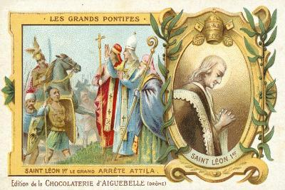 St Leo the Great Stops Attila the Hun's Conquest of Italy, 452--Giclee Print