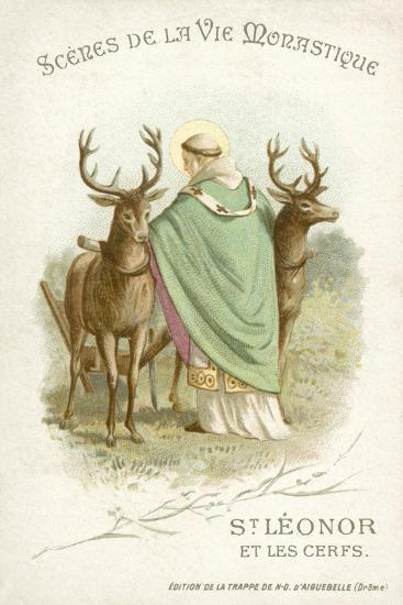 St Leonor and the Deer--Giclee Print