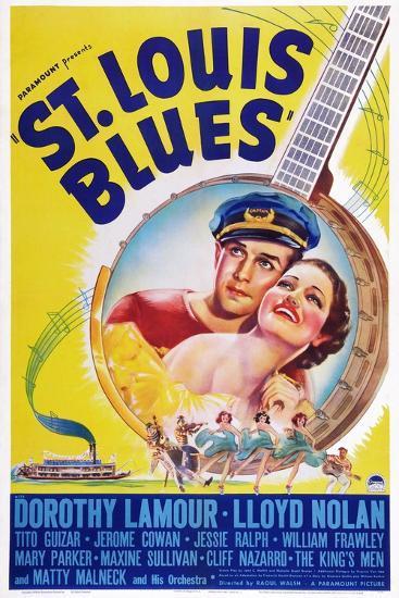 St. Louis Blues, Lloyd Nolan, Dorothy Lamour, 1939--Art Print