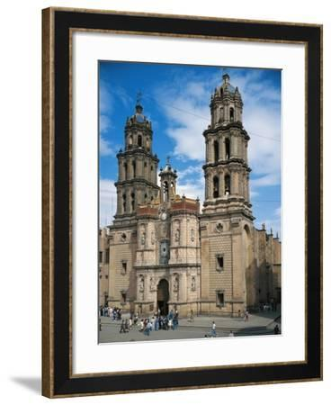 St. Louis Cathedral, Baroque Colonial Style, San Louis Potosi, Mexico--Framed Giclee Print