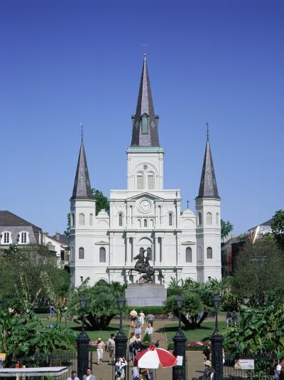 St. Louis Christian Cathedral in Jackson Square, French Quarter, New Orleans, Louisiana, USA-Gavin Hellier-Photographic Print
