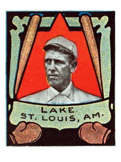 St. Louis, MO, St. Louis Browns, Joe Lake, Baseball Card-Lantern Press-Art Print