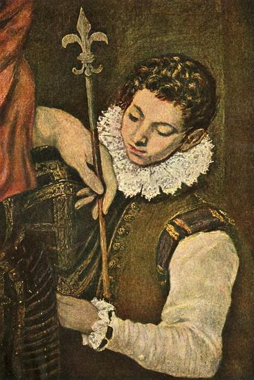 'St. Louis of France (or St. Ferdinand of Castile)', c1586-1590, (1938)-El Greco-Giclee Print