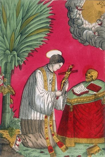 St Louis of Gonzaga, Italian Saint and Protector of Young Students, 19th Century--Giclee Print