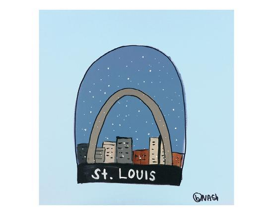 St. Louis Snow Globe-Brian Nash-Art Print