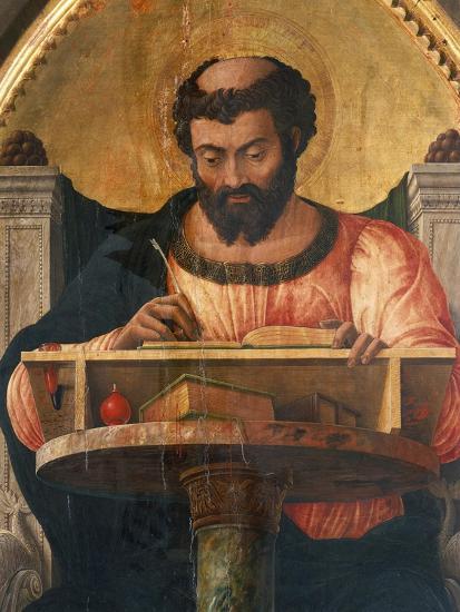 St Luke at His Desk, Detail from Altarpiece of St Luke-Andrea Mantegna-Giclee Print