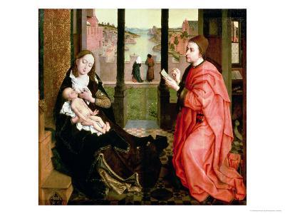 St. Luke Drawing a Portrait of the Virgin-Rogier van der Weyden-Giclee Print