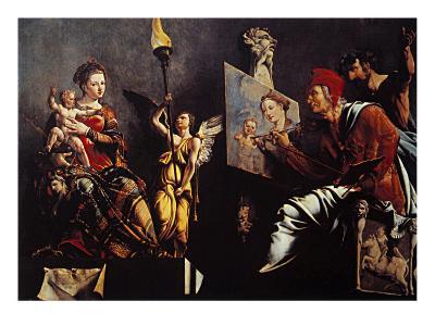 St Luke Painting the Virgin--Giclee Print