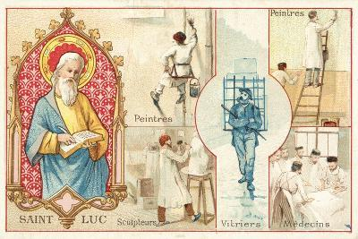 St Luke, Patron Saint of Artists and Doctors--Giclee Print