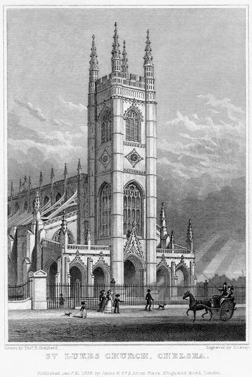 St Luke's Church, Chelsea, London, 1828-S Lacey-Giclee Print