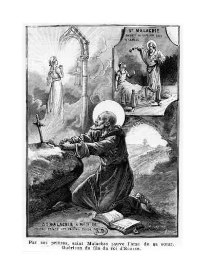 St Malachy Praying for the Soul of His Sister--Giclee Print