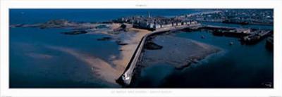 St. Malo, le Mole des Noirs-Philip Plisson-Art Print