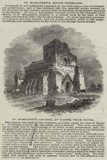 St Margaret's Church, at Cliffe, Near Dover--Giclee Print