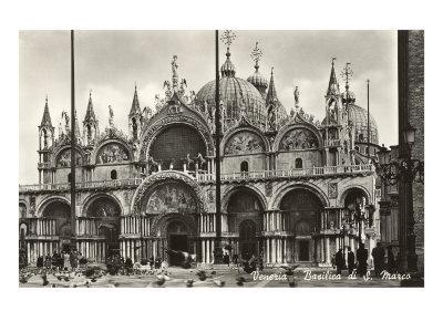 St. Mark's Basilica, Venice, Italy, Photo--Art Print