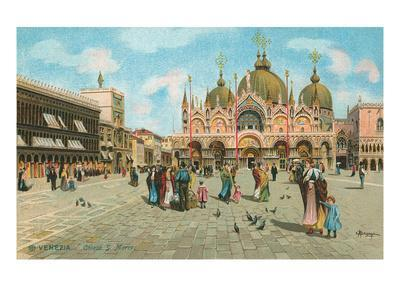 St. Mark's Basilica, Venice, Italy--Art Print