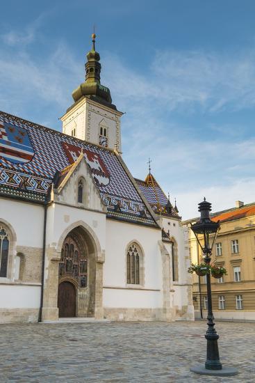 St. Mark's Church, Old Town, Zagreb, Croatia-Jon Arnold-Photographic Print