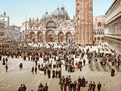 St. Mark's Square, Venice, 1890-1900--Photographic Print