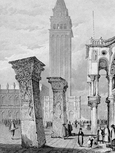 St. Mark's Square, Venice, Engraved by Edward John Roberts (Engraving)-Samuel Prout-Giclee Print