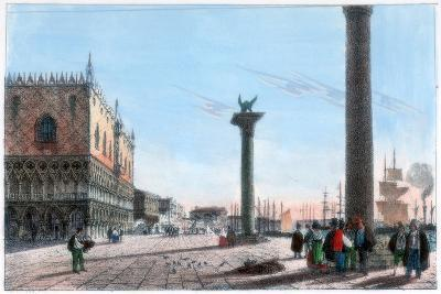St Mark's Square, Venice, Italy, 19th Century- Kirchmayr-Giclee Print