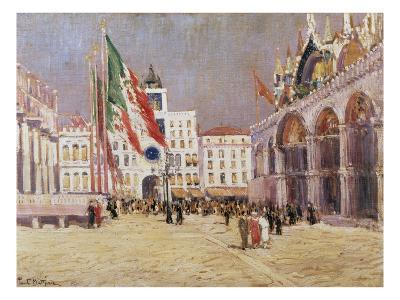 St. Mark's Square, Venice-Paul Mathieu-Giclee Print